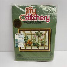 "Vintage! Jiffy Stitchery #361 ""Greenhouse Marigolds"" by Sunset Designs Mervyn's"