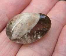 SHAMAN QUARTZ DREAMING CRYSTAL LODALITE POLISHED STONE 26mm x 18mm BAG ID CARD