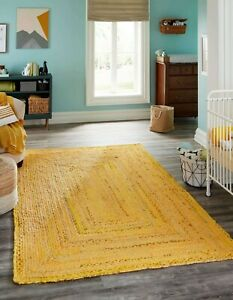 Rug 100% Natural Cotton Braided style Runner Rug Living Area Carpet Modern Rug