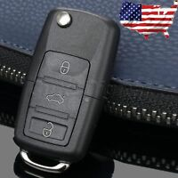 For VW Passat Golf Jetta Bora Polo Car 3 Button Flip Remote Key Case Shell Fob