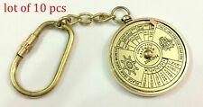 Brass Vintage Nautical 50 Years Perpetual Calendar Keychain Brass Key Ring