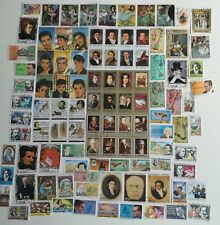 More details for 100 different musicians & singers stamps collection