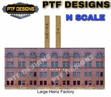 """N Scale Scratch Built """"Heinz Factory""""🥫 Building Flat Front -Walthers w/ LEDs"""