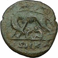 """Constantine I The Great Ancient Roman Coin Romulus & Remus """"Mother"""" wolf  i35437"""