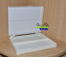 New Microscope Slides Box Slide Storage Holds 100 Slides White