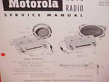 1955 DODGE ROYAL PLYMOUTH BELVEDERE CONVERTIBLE MOTOROLA AM RADIO SERVICE MANUAL