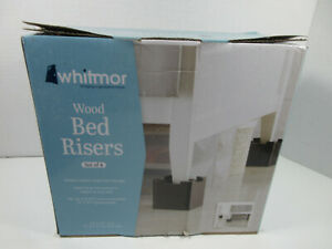 new set of 4 Whitmor wood bed risers style No. 6511-4713-ESPR