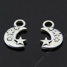15pc Tibetan Silver Star Moon Pendant Charms Beads Accessories Wholesale N01P