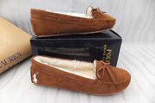 Ralph LAUREN originale donna Tan Meredith II SNUF Pantofole Mis 6.5 NUOVO con scatola prezzo consigliato £ 105