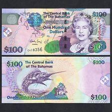2009 BAHAMAS 100 DOLLARS P-76 UNC> > > > > > > > > > > > >QUEEN E II BLUE MARLIN