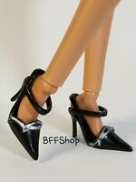 BARBIE DOLLS SILKSTONE MODEL MUSE SIGNATURE MATTEL BLACK POINT HEELS SHOES