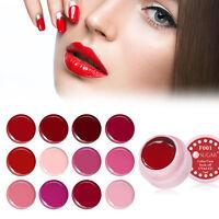 UR SUGAR 5ml Nail Art Soak Off UV Gel Polish Manicure Red Series Gel Varnish