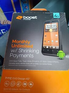 HTC EVO Design 4G - 4GB - Black (Boost Mobile) Smartphone NEW