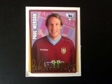 Merlin Football Sticker #37 2001-02 Paul Merson Aston Villa Good Condition