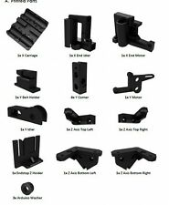 NEW 1 set Printed Parts Kit For RepRap Prusa i3 Rework PLA 3D printer DIY Black