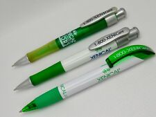 Rare Lot of 3 Green & White Xenical Drug Rep Pharmaceutical Pens 1 Made in Spain