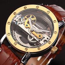 Esqueleto Steampunk Puente automático mecánico deporte reloj