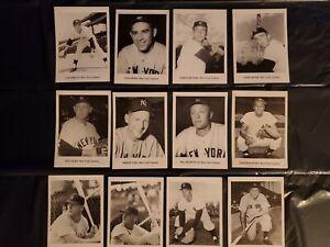 1961 Jay Publishing 5 X 7 Photo Cards New York Yankees lot of 12 Mantle Berra