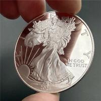 Commemorative American Statue of Liberty Eagle 2021 Replica Silver Plated Coin