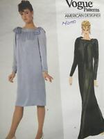 Vogue Sewing Pattern 2921 Misses Ladies Dress Size 16 Uncut Adele Simpson