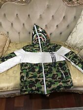 A Bathing Ape  x Adidas Original ID96 Jacket Shark Hoodie Bape