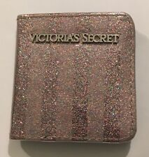 BRAND NEW Victoria's Secret Striped Glitter Compact Purse Mirror  FREE P&P