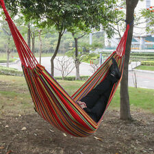 Cotton Rope Hanging Hammock Swing Woven knot Camping Canvas Bed Travel Outdoor