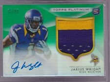 2012 Topps Platinum Jarius Wright Green Refractor Auto 3 Clr Patch Rc Srl# to 99