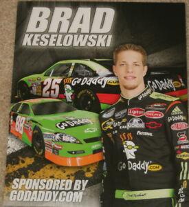 2009 Brad Keselowski Go Daddy Chevy Impala NASCAR postcard