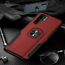 Für Samsung Galaxy A40 5.9 Magnet Metall Ring Hybrid Rot Tasche Hülle Etuis Neu