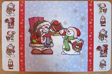 2 Platzset Schneemann Schneemänner  Tischset  Platzdeckchen Winter Weihnachten