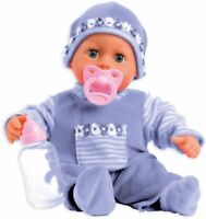 Bayer Design First Words Baby Talking Doll Outfit with Bottle and Pacifier Lave