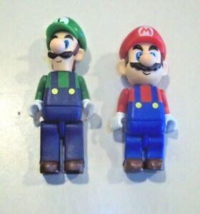 "K'Nex Nintendo Super Mario Bros. Blind Bag 2"" Figures ~ Mario & Luigi"
