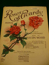 Roses of Picardy sheet music Fred Weatherly Haydn Wood piano guitar ukuele