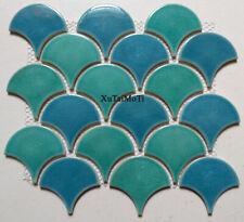 11Pcs fish scale ceramic mosaic kitchen backsplash swimming pool wall floor tile