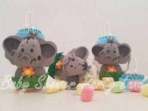 12 Elephant Fillable Bottles Baby Shower Boy Favors Prize Safari Jungle Animals