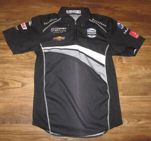 Indy Car Series Ed Carpenter Racing 1/4-Zip Mens Shirt, Black, Size S, NEW