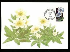 US FDC #2661 Wildflowers 1992 Fleetwood Cachet Maximum Card White Mountain Avens