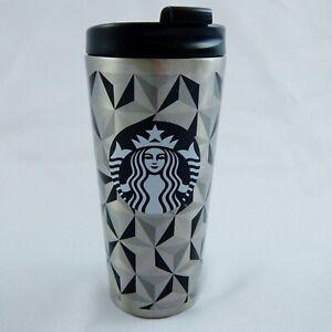 Starbucks 2014 Stainless Steel Geometric Art MC Escher Travel Tumbler Cup 16 oz
