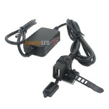 Waterproof USB Power Port Charger Extension iPhone Android GPS Motorcycle Car