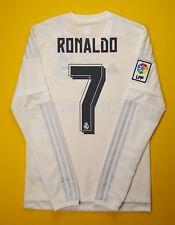 5+/5 Ronaldo Real Madrid jersey SMALL 2015 2016 long sleeve shirt AK2495 Adidas