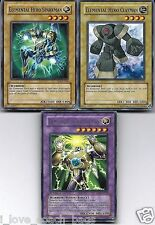 Elemental Hero Thunder Giant  DP1 3-card fusion set: Sparkman + Clayman yugioh