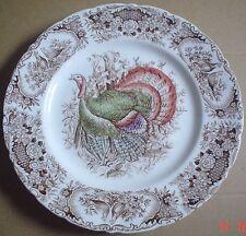 Johnson Brothers Windsor Ware WILD TURKEY NATIVE AMERICAN Dinner Plate 1950's