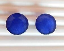 21 Cts 2 Pcs Loose Blue Sapphire Round Faceted Loose Gemstone Round 15 mm H-1829