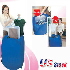800W Portable Electric Air Clothes Dryer Folding Fast Drying Machine Bag Box US