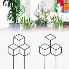 Lattice-Shaped Plant Trellis for Diy Potted Climbing Plants Support Flowers