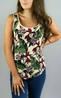 New Ladies Women's Ex OASIS Floral Orchid Leaf Print Summer Vest Top RRP £16