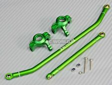 For Axial Wraith Scorpion SMT10 Front ALUMINUM KNUCKLES + STEERING ARM -GREEN