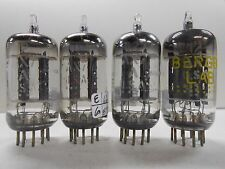 Ge Long Gray Plate 12Ax7A Vacuum Tubes (4) All Medium Matched Between 75 and 87%