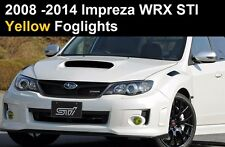 2008 - 2014 Subaru Impreza WRX STI Yellow Fog light Overlays Vinyl Tint Precut